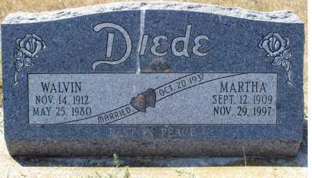 DIEDE, MARTHA - Logan County, North Dakota | MARTHA DIEDE - North Dakota Gravestone Photos