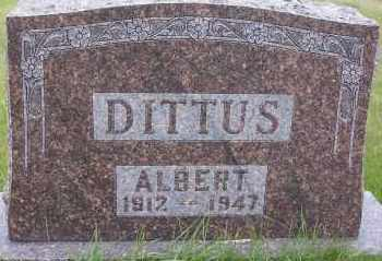 DITTUS, ALBERT - Logan County, North Dakota   ALBERT DITTUS - North Dakota Gravestone Photos