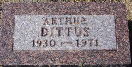 DITTUS, ARTHUR EWALD - Logan County, North Dakota   ARTHUR EWALD DITTUS - North Dakota Gravestone Photos