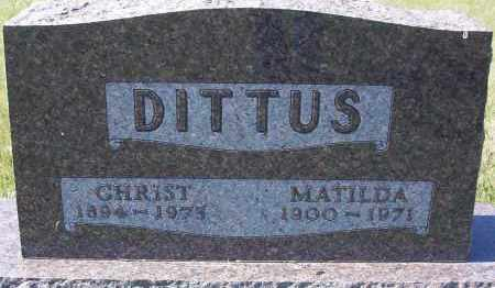 DITTUS, MATHILDA - Logan County, North Dakota | MATHILDA DITTUS - North Dakota Gravestone Photos