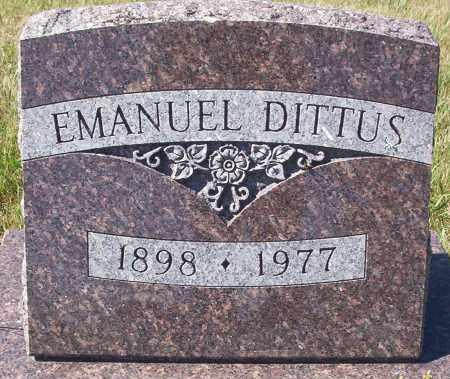 DITTUS, EMANUEL - Logan County, North Dakota   EMANUEL DITTUS - North Dakota Gravestone Photos