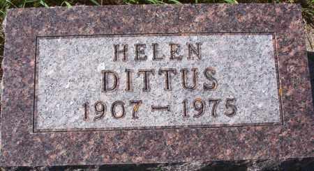 DITTUS, HELEN - Logan County, North Dakota   HELEN DITTUS - North Dakota Gravestone Photos