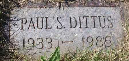 DITTUS, PAUL SAMUEL - Logan County, North Dakota   PAUL SAMUEL DITTUS - North Dakota Gravestone Photos