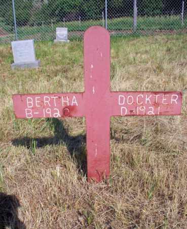 DOCKTER, BERTHA - Logan County, North Dakota | BERTHA DOCKTER - North Dakota Gravestone Photos