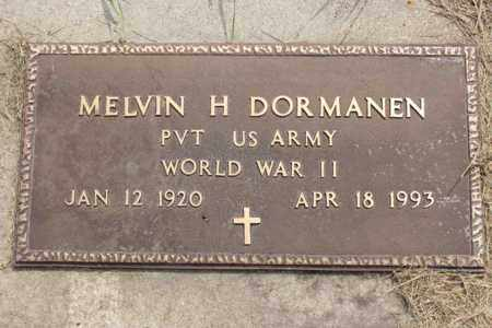 DORMANEN, MELVIN H. - Logan County, North Dakota   MELVIN H. DORMANEN - North Dakota Gravestone Photos