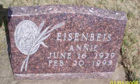 EISENBEIS, ANNIE - Logan County, North Dakota | ANNIE EISENBEIS - North Dakota Gravestone Photos