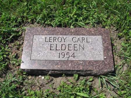 ELDEEN 037, LEROY CARL - Logan County, North Dakota | LEROY CARL ELDEEN 037 - North Dakota Gravestone Photos