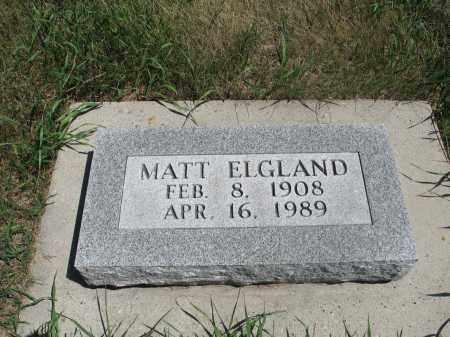 ELGLAND, MATT - Logan County, North Dakota | MATT ELGLAND - North Dakota Gravestone Photos