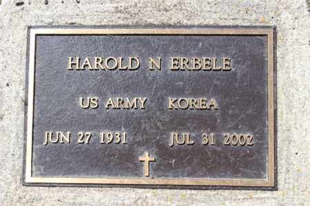 ERBELE, HAROLD N. - Logan County, North Dakota | HAROLD N. ERBELE - North Dakota Gravestone Photos