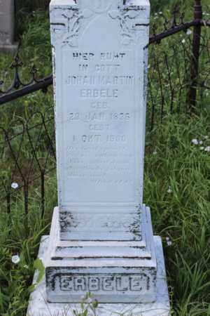 ERBELE, JOHAN MARTIN - Logan County, North Dakota | JOHAN MARTIN ERBELE - North Dakota Gravestone Photos