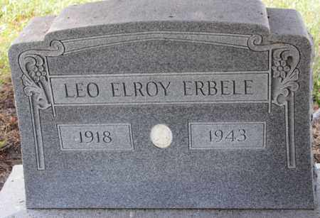 ERBELE, LEO ELROY - Logan County, North Dakota | LEO ELROY ERBELE - North Dakota Gravestone Photos