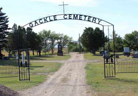 GACKLE, CEMETERY GATE AND SIGN - Logan County, North Dakota | CEMETERY GATE AND SIGN GACKLE - North Dakota Gravestone Photos