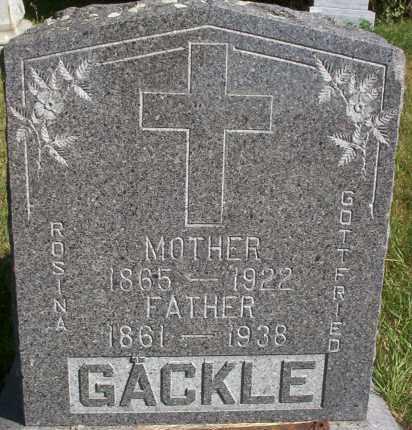 GACKLE, ROSINA - Logan County, North Dakota | ROSINA GACKLE - North Dakota Gravestone Photos