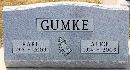 GUMKE, ALICE - Logan County, North Dakota | ALICE GUMKE - North Dakota Gravestone Photos