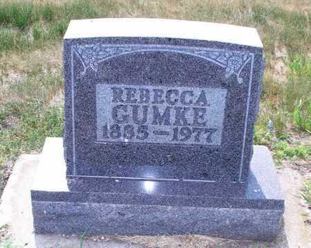 GUMKE, REBECCA - Logan County, North Dakota   REBECCA GUMKE - North Dakota Gravestone Photos