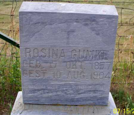 GUMKE, ROSINA - Logan County, North Dakota   ROSINA GUMKE - North Dakota Gravestone Photos