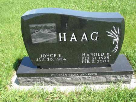 HAAG 067, JOYCE E. - Logan County, North Dakota   JOYCE E. HAAG 067 - North Dakota Gravestone Photos