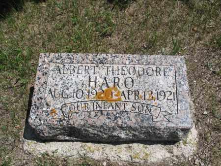 HARO, ALBERT THEODORE - Logan County, North Dakota | ALBERT THEODORE HARO - North Dakota Gravestone Photos