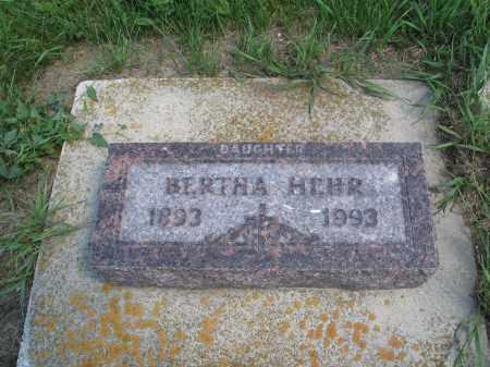 HEHR 088, BERTHA - Logan County, North Dakota | BERTHA HEHR 088 - North Dakota Gravestone Photos