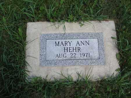 HEHR 094, MARY ANN - Logan County, North Dakota | MARY ANN HEHR 094 - North Dakota Gravestone Photos