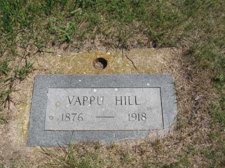 HILL, VAPPU - Logan County, North Dakota | VAPPU HILL - North Dakota Gravestone Photos