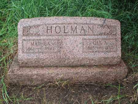 HOLMAN, MATHEA - Logan County, North Dakota | MATHEA HOLMAN - North Dakota Gravestone Photos