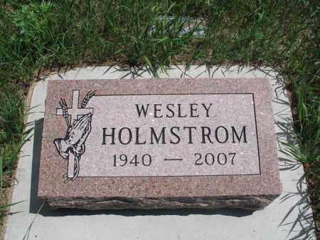 HOLMSTROM, WESLEY - Logan County, North Dakota | WESLEY HOLMSTROM - North Dakota Gravestone Photos
