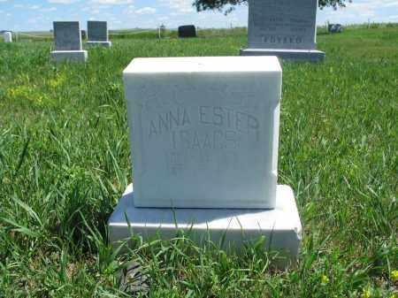 ISAACS, ANNA ESTER - Logan County, North Dakota   ANNA ESTER ISAACS - North Dakota Gravestone Photos