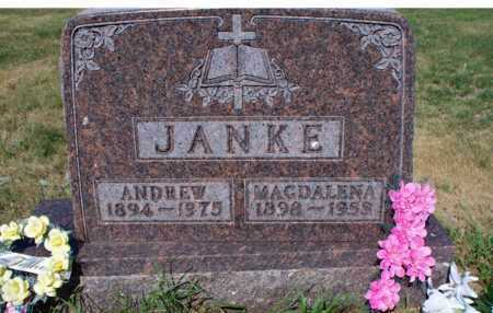 JANKE, ANDREW - Logan County, North Dakota | ANDREW JANKE - North Dakota Gravestone Photos