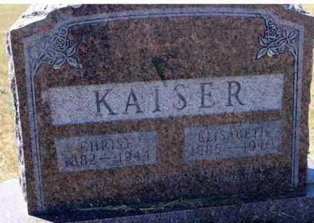 KAISER, ELISABETH - Logan County, North Dakota | ELISABETH KAISER - North Dakota Gravestone Photos