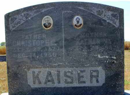 KAISER, CHRISTOPH C. - Logan County, North Dakota | CHRISTOPH C. KAISER - North Dakota Gravestone Photos