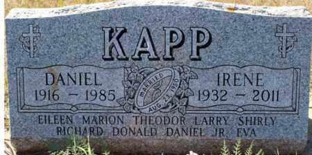 KAPP, IRENE - Logan County, North Dakota | IRENE KAPP - North Dakota Gravestone Photos