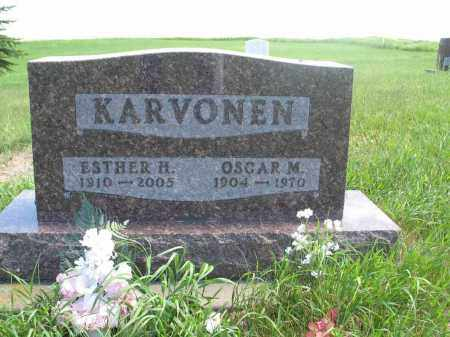 KARVONEN, OSCAR M. - Logan County, North Dakota | OSCAR M. KARVONEN - North Dakota Gravestone Photos