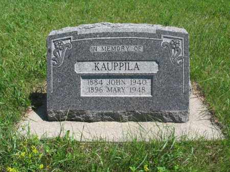 KAUPPILA, JOHN - Logan County, North Dakota | JOHN KAUPPILA - North Dakota Gravestone Photos