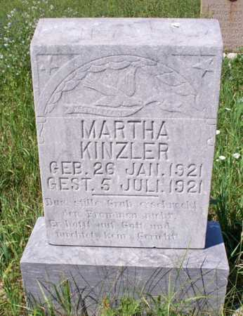 KINZLER, MARTHA - Logan County, North Dakota | MARTHA KINZLER - North Dakota Gravestone Photos