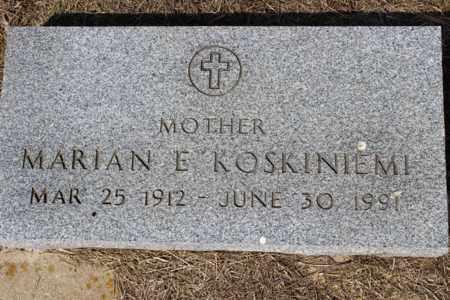 KOSKINIEMI, MARIAN E. - Logan County, North Dakota | MARIAN E. KOSKINIEMI - North Dakota Gravestone Photos