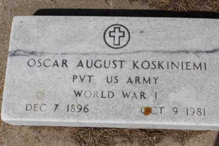 KOSKINIEMI, OSCAR AUGUST - Logan County, North Dakota | OSCAR AUGUST KOSKINIEMI - North Dakota Gravestone Photos