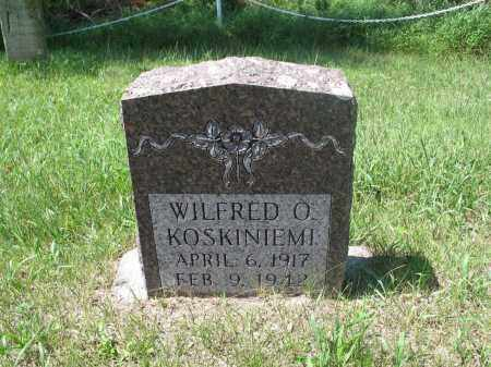 KOSKINIEMI, WILFRED O. - Logan County, North Dakota | WILFRED O. KOSKINIEMI - North Dakota Gravestone Photos