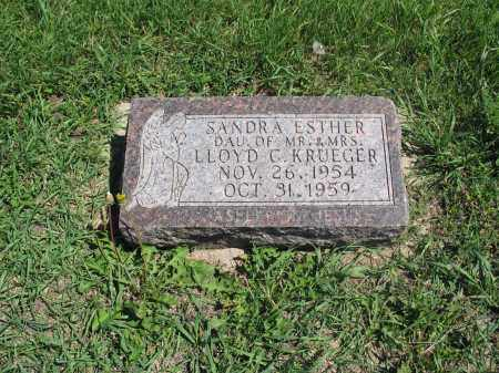KRUEGER 001, SANDRA ESTHER - Logan County, North Dakota   SANDRA ESTHER KRUEGER 001 - North Dakota Gravestone Photos