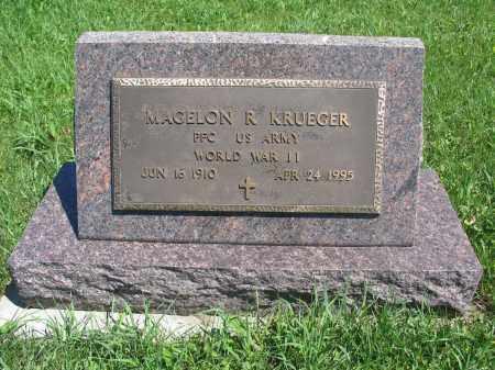 KRUEGER 062, MAGELON R. - Logan County, North Dakota | MAGELON R. KRUEGER 062 - North Dakota Gravestone Photos