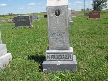 KRUEGER 118, FERDINAND - Logan County, North Dakota   FERDINAND KRUEGER 118 - North Dakota Gravestone Photos