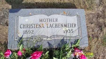 LACHENMEIER, CHRISTENA - Logan County, North Dakota | CHRISTENA LACHENMEIER - North Dakota Gravestone Photos