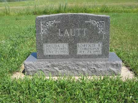 LAUTT 197, HULDA L. - Logan County, North Dakota   HULDA L. LAUTT 197 - North Dakota Gravestone Photos