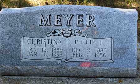 MEYER, CHRISTINA - Logan County, North Dakota | CHRISTINA MEYER - North Dakota Gravestone Photos