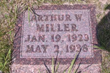 MILLER, ARTHUR W. - Logan County, North Dakota | ARTHUR W. MILLER - North Dakota Gravestone Photos