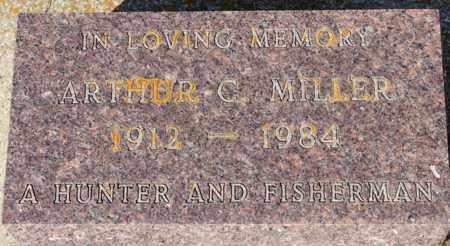 MILLER, ARTHUR C. - Logan County, North Dakota   ARTHUR C. MILLER - North Dakota Gravestone Photos