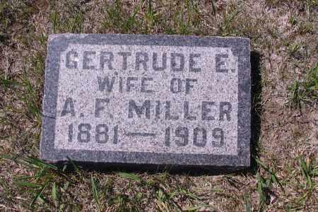 MILLER, GERTRUDE E. - Logan County, North Dakota | GERTRUDE E. MILLER - North Dakota Gravestone Photos