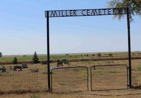 MILLER, GATE AND SIGN - Logan County, North Dakota | GATE AND SIGN MILLER - North Dakota Gravestone Photos