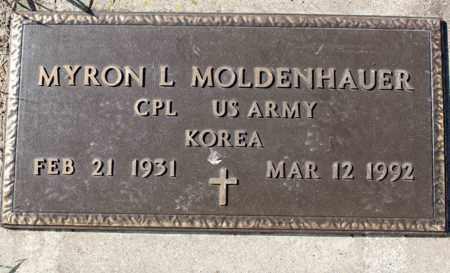 MOLDENHAUER, MYRON L. - Logan County, North Dakota | MYRON L. MOLDENHAUER - North Dakota Gravestone Photos