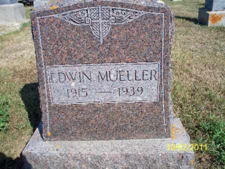 MUELLER, EDWIN - Logan County, North Dakota   EDWIN MUELLER - North Dakota Gravestone Photos